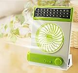 XY-BAI Desk fans Multifunctional Fan LED Fan Mini Charging,Solar Energy Small Fan Student Hostel Fan Eye Protection Desk Lamp (Color : 4)
