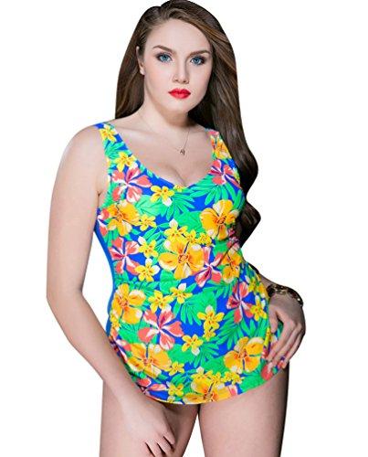 Sentao Bañadores,Una Pieza Bañador Push Up Traje De Baño Bikini Para Mujer Amarillo