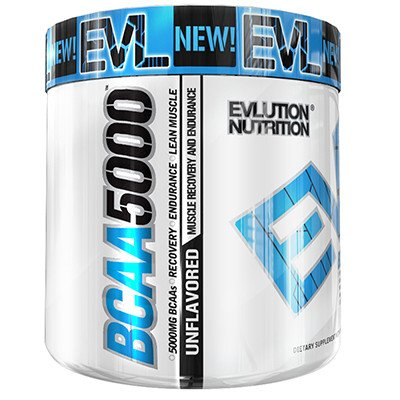 Evlution Nutrition EVL BCAA 5000 Unflavored, 60 Servings, 10.6 oz