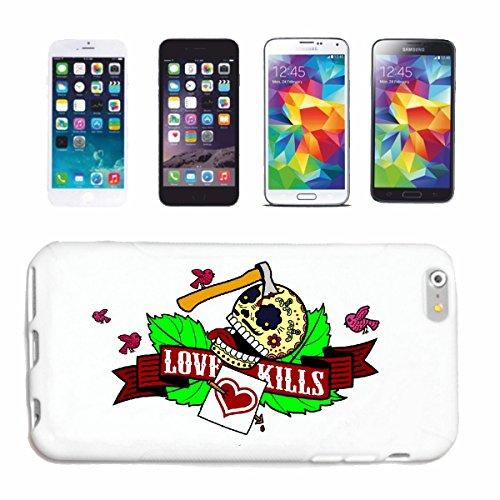 """cas de téléphone iPhone 7S """"AMOUR KILLS LIFESTYLE FASHION STREETWEAR HIPHOP SALSA LEGENDARY"""" Hard Case Cover Téléphone Covers Smart Cover pour Apple iPhone en blanc"""
