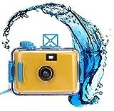 Hometom Waterproof Mini 35mm Film Camera Purple Underwater Cameras (Yellow)