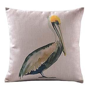 JamieSaleStore Pelicans 45*45cm Cotton linen pillow cushion cover