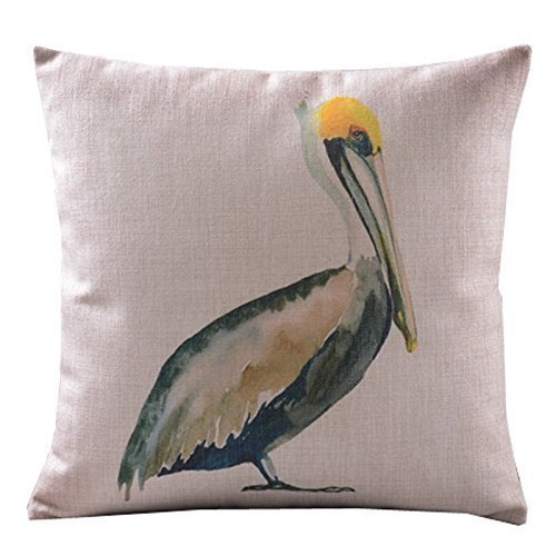 CoolDream Home Decor Sofa Cotton Linen Pelicans Throw Pillow