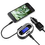 Insten Universal All Channel FM Transmitter w/USB Port, Black For Apple iPhone 7/7 Plus