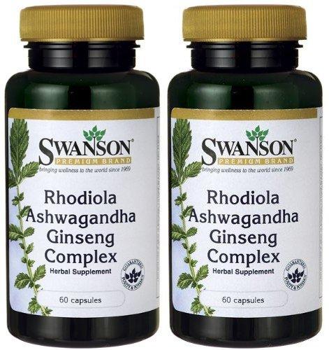 Swanson Premium Rhodiola Ashwagandha Capsules