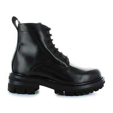 Dsquared2 Chaussures Femme Bottes avec Lacets en Cuir Noir Automne-Hiver  2019  Amazon.fr  Chaussures et Sacs 1107a507f30a