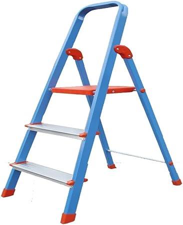 GBX Taburete Plegable Fácil Y Multifunción Conveniente, Escalera de 3 Escalones Escalera Plegable/Escalera Taburete de Aluminio Escalera Plataforma Plegable Taburete 330 Lb Capacidad de Carga Escal: Amazon.es: Bricolaje y herramientas