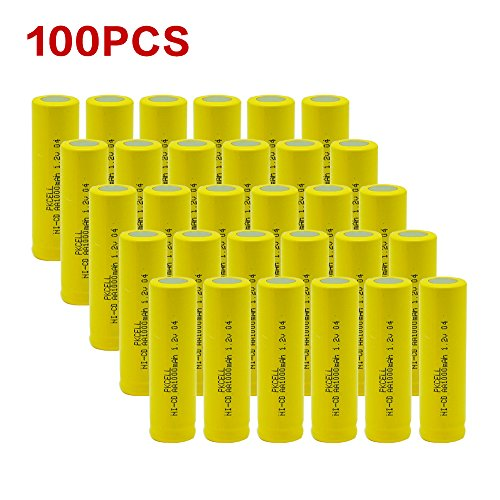 100pcx AA NiCd 1000 mAh 1.2 V Rechargeable Batteries Pkcell by PK Cell