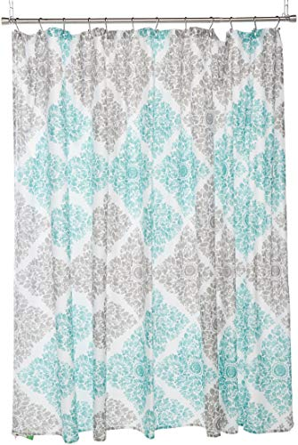 Claire Design Pattern Fabric Shower Curtain, Medallion Casual Shower Curtains for Bathroom, 108 X 72, - Wide Curtain Fabric Shower