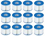 Intex 6 x 29001E B00PUZW3N2 PureSpa Type S1 Easy Set Pool Cartridges (12 Filters) | 2, 1 Pack, Blue