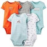 Carter's Baby Boys' 5 Pack Bodysuits (Baby) - Light Blue - 3M