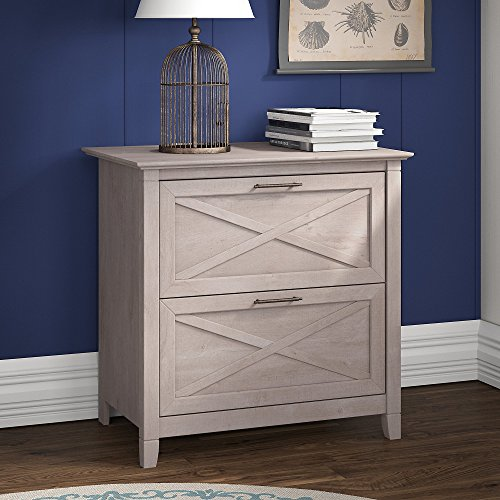 Key West Collection Lateral File in Washed Gray by Bush Furniture