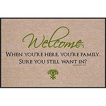 Amazon.com: Felpudo Bienvenido – usted Familia Interior ...