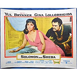 SOLOMON AND SHEBA MOVIE POSTER-Gina Lollobrigida Yul Brynner l/c 2