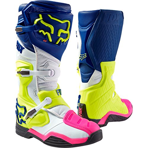 - Fox Racing Comp 8 Men's Off-Road Motorcycle Boots - Navy/White/Size 9