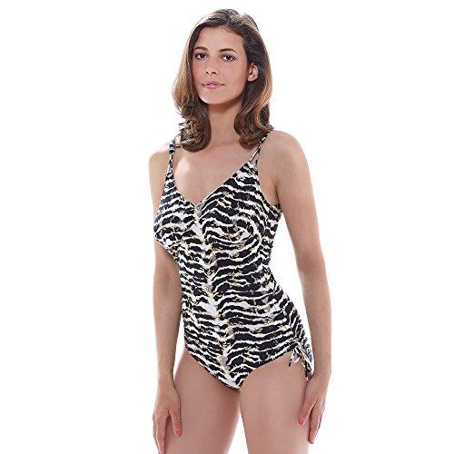 Fantasie Milos Swimsuit, 36E, Black Cream