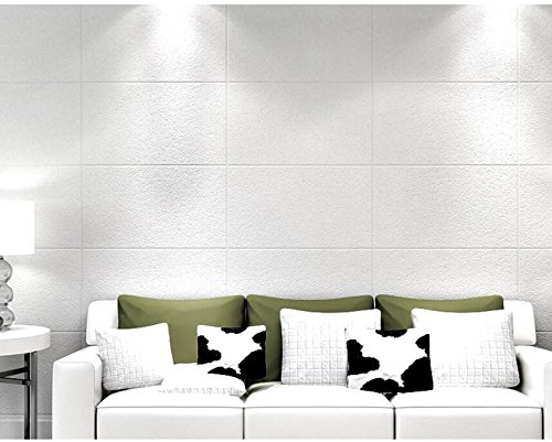 Ayzr Imitation Marble Thick Non-Woven Wallpaper Living Room Backdrop Of Modern Minimalist Plain Lattice Wallpaper,White - Imitation Marble