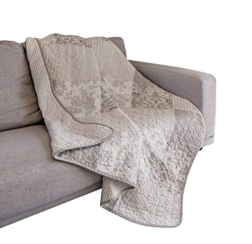 (SLPR Silver Linings Cotton Real Patchwork Quilted Throw (50