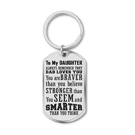Amazon.com: Regalos de graduación llavero a mi hija siempre ...