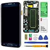 Display Touch Screen (AMOLED) Digitizer Assembly with Frame for Samsung Galaxy S6 Edge+ (Plus 5.7 inch) G928T (T-Mobile) (for Mobile Phone Repair Part Replacement) (Repair Tool Kits) (Black Sapphire)