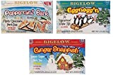 Bigelow Holiday Flavors Tea Bundle - 3 Items: 1 Box each: Eggnogg'n, Ginger Snappish, and Peppermint Bark Flavors