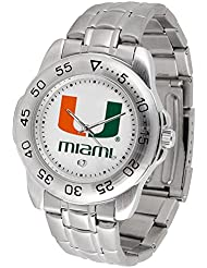 Miami Hurricanes Mens Sport Game Day Steel Watch