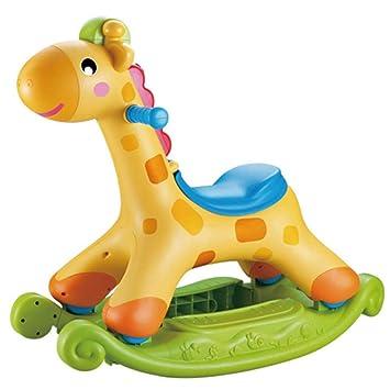 Silla Mecedora Para Niños Rocking Horse Carrito De YoYo Uso Dual Equilibrio De Scooter De Plástico Grueso, Música, Regalo,Green: Amazon.es: Hogar