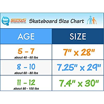 SkateXS Personalized Beginner Unicorn Girls Skateboard : Sports & Outdoors