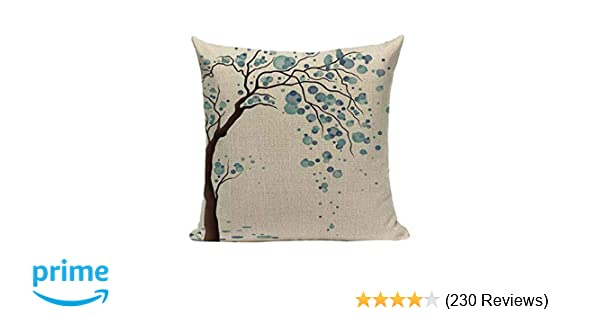 Amazon.com  LYN Cotton Linen Square Throw Pillow Case Decorative Cushion  Cover Pillowcase for Sofa 18