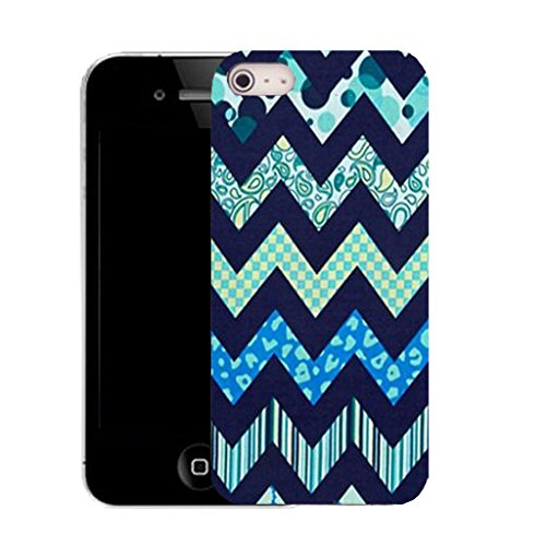 Mobile Case Mate IPhone 4 clip on Silicone Coque couverture case cover Pare-chocs + STYLET - blue zealous pattern (SILICON)