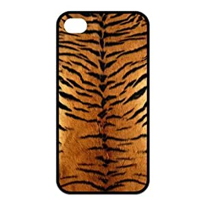 Cool Tiger King Pattern Rubber Case Cover for Iphone 4 4s