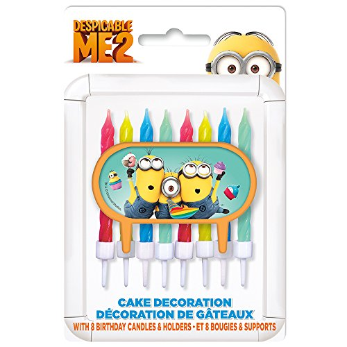 Despicable Me Minions Cake Topper & Birthday Candle Set -
