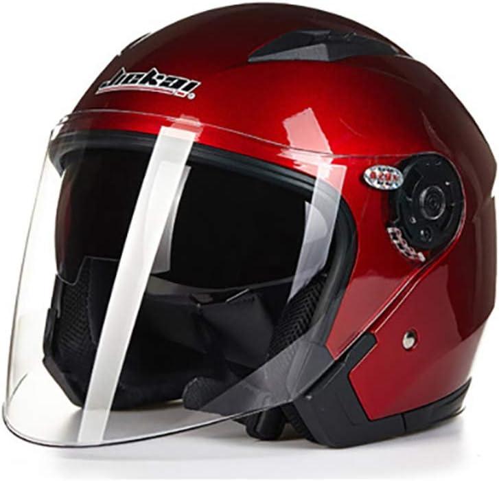 Seasons Unisex Jet Motorbike Helmet in Crash Helmets Motorcycle Moped Scooter Vintage Style DOT Approved 57-64cm Half Open Face Motorcycle Helmet