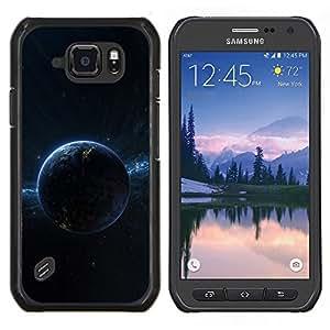 LECELL--Funda protectora / Cubierta / Piel For Samsung Galaxy S6Active Active G890A -- Oscuro Espacio Planet --