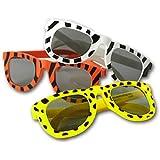 Fun Express Assortment Animal Print Sunglasses (1 Dozen), Multicolor