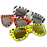 Fun Express Assortment Animal Print Sunglasses (1 Dozen), Multicolor