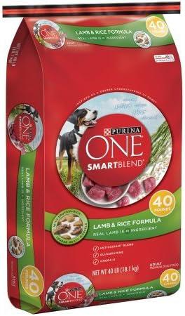 Purina ONE SmartBlend Lamb Rice Formula Adult Premium Dog Food 40 lb. Bag