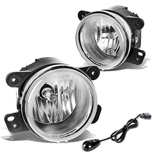 Chrysler 300 / 300C SRT-8 Pair of Driving Fog Lights + Wiring Kit + Switch (Chrome Lens)