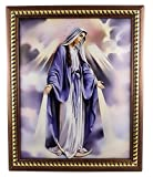 Unique Our Lady of Grace Plaque Virgin Mary Padded Wall Picture Holy Land 11.4''