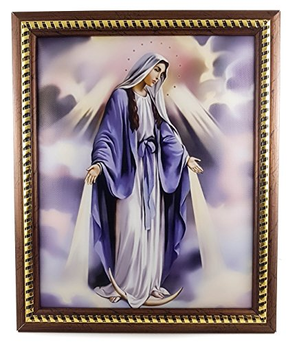 Unique Our Lady of Grace Plaque Virgin Mary Padded Wall Picture Holy Land 11.4'' by Nazareth Store