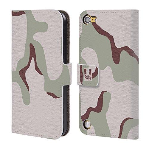 Head Case Designs Deserto Tre Colori Fantasia Militare Cover a portafoglio in pelle per iPod Touch 5th Gen / 6th Gen