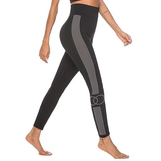 LiXiZhong Medias De Yoga Pantalones De Ejercicio De Control ...
