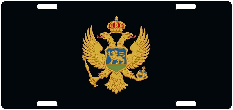 MNUT - Placa de matrícula personalizable con bandera de Montenegro, 15,2 x 30,5 cm: Amazon.es: Hogar