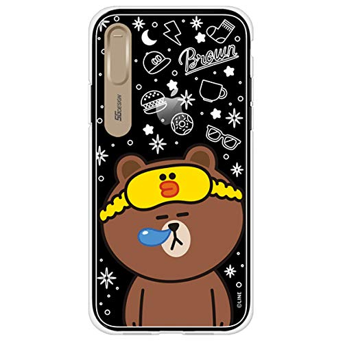 timeless design d1de9 3f145 iPhone X Case, LINE FRIENDS Official Light Up Clear Phone Case (Good Night  Brown)