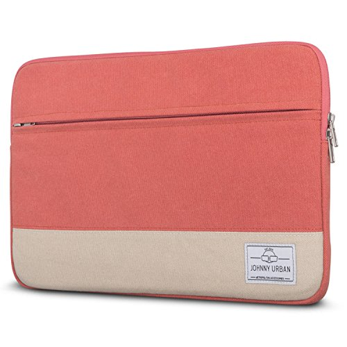 Johnny Urban Canvas Laptop Sleeve 15 - 15.6 Inch Red - Bag for 15