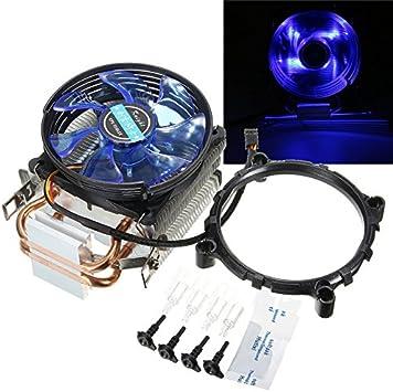95mm LED Cobre CPU Enfriador Ventilador disipador de Calor para ...