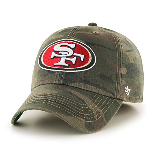 NFL San Francisco 49ers Harlan Franchise Fitted Hat, Small, Sandalwood