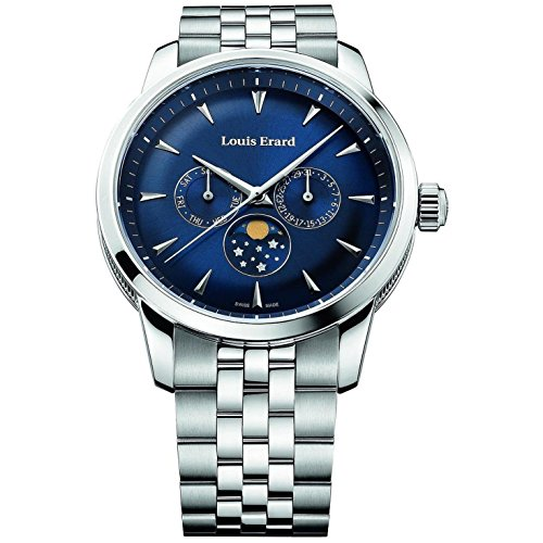 Louis Erard Heritage Collection Swiss Quartz Blue Dial Men's Watch 14910AA05.BMA38