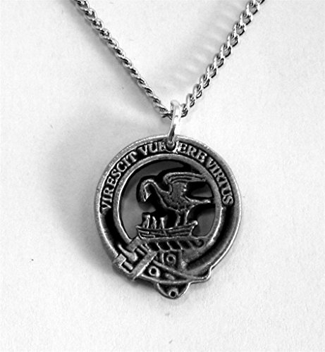 Crest Jewelry Pendant (Scottish Clan Stewart Crest Pewter Charm with Chain (Gift Boxed))
