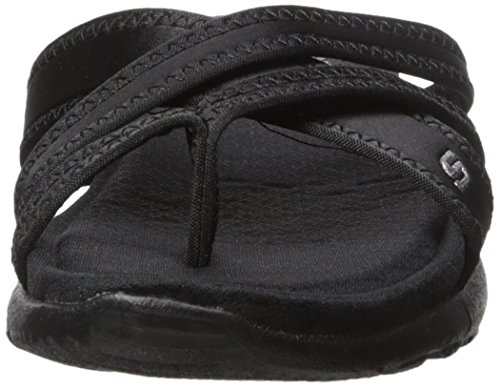 Cali Toe Lucky Sandal Breeze Stars Black Low Women's Skechers Ring black wpqPZy